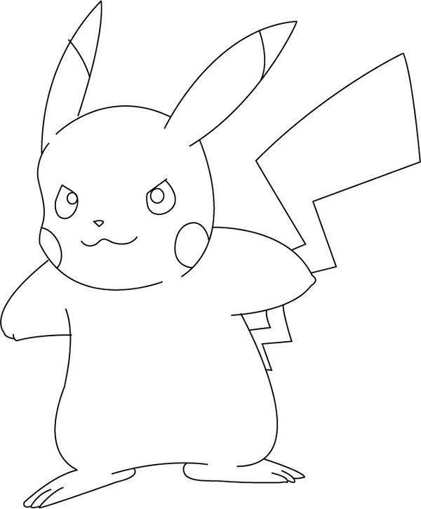 Coloriage pok mon pikachu centerblog - Dessin de pikachu ...